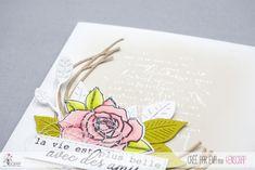 """Eva : #Tampons et #matrices de coupe #dies #4enSCRAP """"couronne de #printemps"""" #roses #fleurs #scrapbooking #DIY #loisirscréatifs #carte #carterie Mini Albums, Nature Rose, Tampons Transparents, Scrapbooking Diy, Roses, Bonheur, Happy Moments, Splash Of Color, Ink Stamps"""