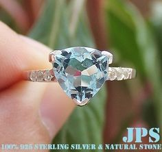 BEAUTIFUL 3.50 cts BLUE & WHITE TOPAZ RING SOLID 925SS $.01 NR & FREE SHIPPING