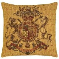 Armorial-Chenille Tapestry Cushion