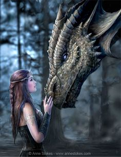 Anne Stokes : Art Gallery (www.annestokes.com) Love her fantasy art. She has such cool dragons! This is my favorite!