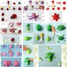 Wow! Look at these cute animals: ladybug, octopus, sea star, turtle, snail, piglet! At first glance, I thought they are some play-doh crafts. Actually they are made from fondant, an edible icing used to decorate or sculpt cakes and pastries. They are super easy and fun to create so you can work with your kids …