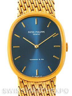Patek Philippe Tiffany Golden Ellipse 18k Yellow Gold Watch 3848