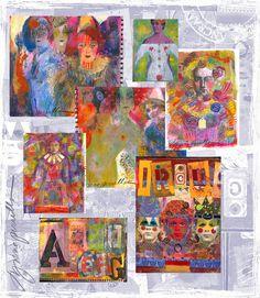 Lynne Perella's exciting world. I LOVE Lynne Perella. She brings fine art to mixed media.