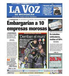 ¡Buenos días! No te pierdas la edición impresa de La Voz de Michoacán de este sábado 12 de noviembre: