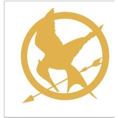 Hunger Games Mocking Jay Sticker Decal Metallic Gold - Mockingjay