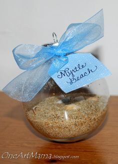 Take sand from the beach on your honeymoon and put it in an ornament for your first married Christmas