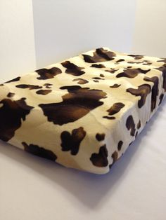 Western Changing Pad Cover Cow Print by RockinEBoutique on Etsy, $45.00