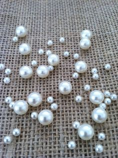 100 Pcs Pearl Ivory/white Table Scatter/Decor For Wedding/Events/Parties #Unbranded