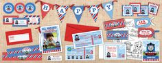 Thomas the Tank Engine Party Printables Package by Ian and Lola Designs http://www.ianandlola.com
