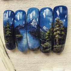 Cute Nail Art, Easy Nail Art, Cute Nails, Posh Nails, Different Types Of Nails, Nail Art Techniques, Nail Art Supplies, Press On Nails, Winter Nails