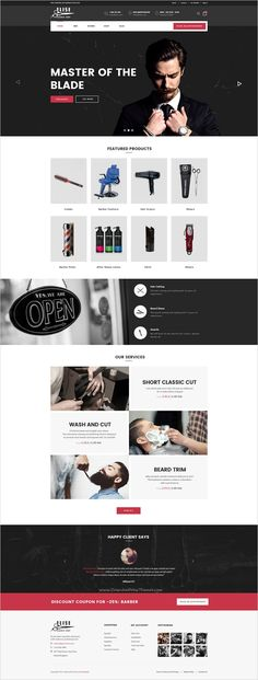 Elise is a wonderful premium #PSD template for #barber #shop eCommerce website with 3 unique homepage layouts and 12 organized PSD pages download now➯ https://themeforest.net/item/elise-a-genuinely-multiconcept-ecommerce-theme/16537148?ref=Datasata