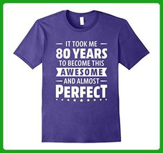Mens 80 Years To Become Awesome 80th Birthday Shirt Born In 1937 Small Purple - Birthday shirts (*Amazon Partner-Link)