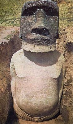 Easter Island heads have bodies.  Did you know?