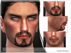 For males  Found in TSR Category 'Sims 4 Facial Hair'