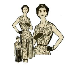 1950s Dress and Jacket Pattern Anne Adams 4746 Bust by CynicalGirl, $28.00