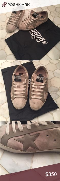 Golden Goose Deluxe Brand Superstar Sneaker Golden Goose suede sneakers. Only worn A few times as I bought the wrong size. I no longer have the box, however I do have the dust ruffle. Golden Goose Shoes Sneakers