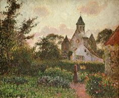 Camille Pissarro Open Meadow   ... Montfoucault 1876 by Camille Pissarro   Find, Compare Prices, Choose