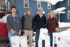 During every sugaring season, students are on hand to help with the process.