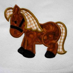 HORSE Farm Applique and Embroidered Quilt Block by amyglitterbug, $6.99