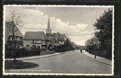 tolle AK Steenwijk, J.H. Tromp Meesterstraat mit Kirchturm