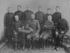 Russian army officer candidate uniforms group