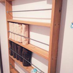 My Shelf/ナチュラル/北欧/リフォーム/タオル収納/シンプル...などのインテリア実例 - 2016-08-03 09:07:51