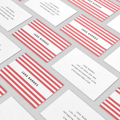 Barnes – one of our Stripes business card templates available to customise and order on our site.