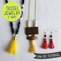 Mini DIY Tutorial – Tassel Jewelry 3 Ways — Sew DIY