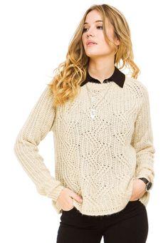 Sweater Beige Try Me Mía - Comprá Ahora   Dafiti Argentina