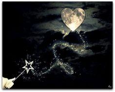Heart shaped moon - it's magic.