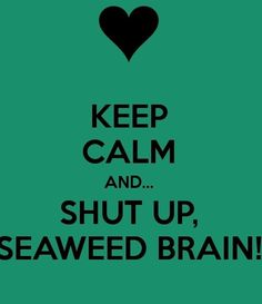 The relationship that me and one of my guy friends have is SO Percy and Annabeth that it scares me sometimes. I even call him seaweed brain... We might as well be them.