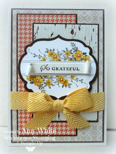 by Amy White, White House Stamping: Grateful Apothecary Tablescape
