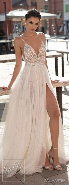 Gali Karten Wedding Dresses 2018 - Burano Bridal Collection features exquisite gowns in a plethora of gorgeous silhouettes. V Neck Prom Dresses, Wedding Dresses 2018, Sexy Dresses, Beautiful Dresses, Nice Dresses, Party Dresses, Boho Beautiful, Homecoming Dresses, Dress Outfits