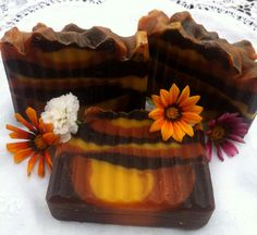 Autumn Lodge Handcrafted Soap: Freshly cut wood, fir needles, patchouli, vanilla & coffee! $6 by Sonoran Scents on Etsy