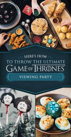 "For more recipes, find the rest of our Game of Thrones viewing party plan here. These Cheesy Muffins Are The Perfect ""Game Of Thrones"" Party Treat Game Of Thrones Drink, Game Of Thrones Theme, Game Of Thrones Stuff, Game Of Thrones Cocktails, Game Of Thrones Gifts, Got Game Of Thrones, Game Of Thrones Houses, Snacks Für Party, Party Treats"