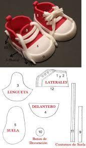 Resultado de imagen de hacer zapatos de goma eva