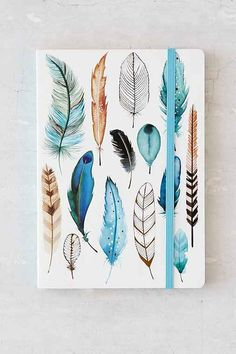 diy notebook cover for boys Diy Notebook, Notebook Covers, Journal Notebook, Journals, Graphisches Design, Cute Stationary, Cute Notebooks, Feather Art, Diy School Supplies