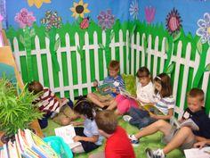 Garden Themed Reading Center
