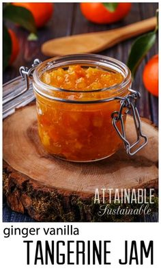 Tangerine Marmalade Recipe with Ginger and Vanilla. Preserve the citrus harvest with this jam.
