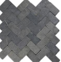 so nice for shower floor Grey Herringbone Stone Mosaic Tile 12.99 houzz