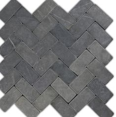 so nice for shower floor Grey Herringbone Stone Mosaic Tile 12.99 houzz