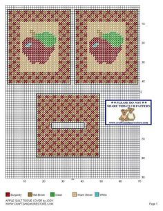 APPLE QUILT TISSUE COVER by JODY