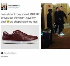 That whore<<<<<he looks so proud of himself for getting the damn shoes