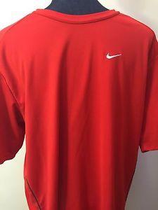 Nike Fit Dry Men's XL x Large Red T Shirt Black Stripe | eBay