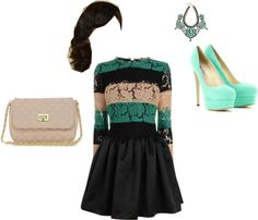 """first date dinner outfit"" by maileonna-davis ❤ liked on Polyvore"