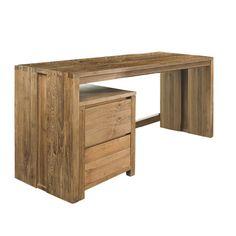 Письменный стол из массива тика в минималистическом скандинавском дизайне. Возможен в двух размерах. Возможно дополнительно приобрести тумбу с двумя вместительными ящиками. Материал: Дерево. Бренд: Teak House. Стили: Лофт, Скандинавский и минимализм. Цвета: Коричневый.