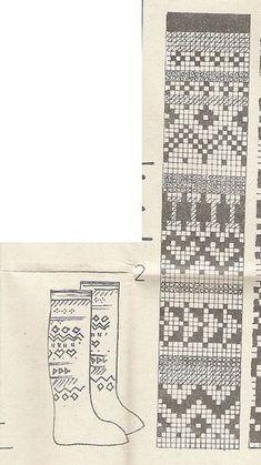 sock pattern (With images) Fair Isle Knitting Patterns, Knitting Charts, Knitting Designs, Knitting Stitches, Knitting Projects, Mittens Pattern, Knit Mittens, Knitting Socks, Crochet Motifs