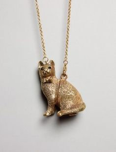 if this necklace makes me a crazy cat lady, then so be it.