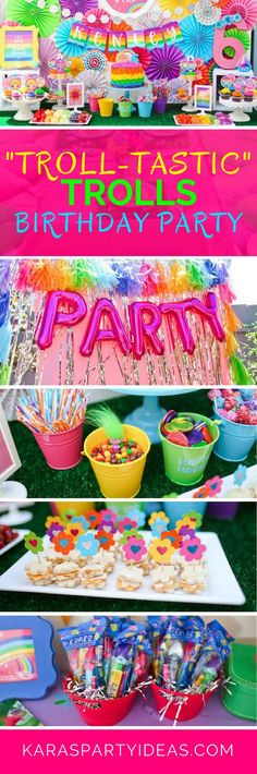 Troll-tastic Trolls Birthday Party via Kara's Party Ideas - KarasPartyIdeas.com