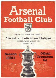 Arsenal v Tottenham, 26th August 1950 (2-2)